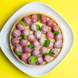 Raspberry Lemon Cream Tart Image