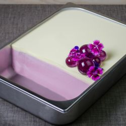 White Chocolate Grape Layered Sorbetto Image