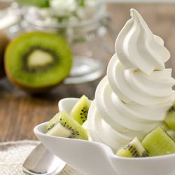 Kiwi Greek Yogurt Soft Serve Image
