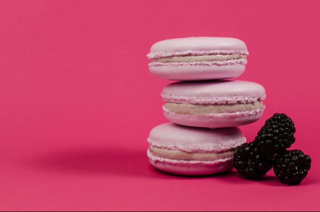 Blackberry Macaron with Blackberry Butter Cream Filling