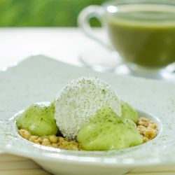Green Tea & Coconut Dessert Image