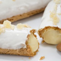 Almond Pastry Cream filled Gluten Free Eclair Image